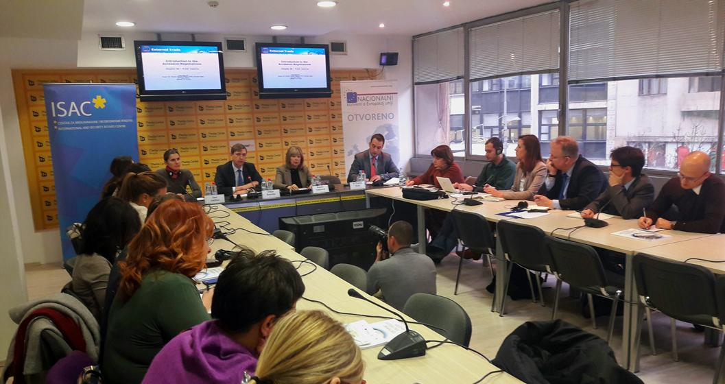 Konferencija ,,Poglavlje 30 – ekonomski odnosi sa inostranstvom: Izveštaj o skriningu i priprema pregovaračkih pozicija''